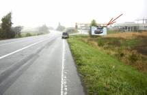 Billboard, Náchod (I/33, Vysokov, čs.OMV,auto FORD)