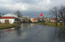 Billboard, Teplice (Hřbitovní 1, vjezd)