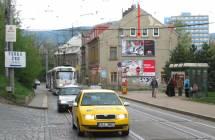 Billboard, Liberec (Hanychovská,z centra )